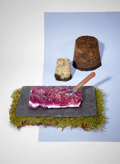 Crystallized Jelly Food Photography - Edible Earth by Katie Fotis Looks Deceptively Inedible