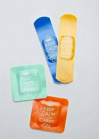 Anxiety-Reducing Bandaids - These Keep Calm Bandages Will Remind You to Stay Relaxed in a Crisis