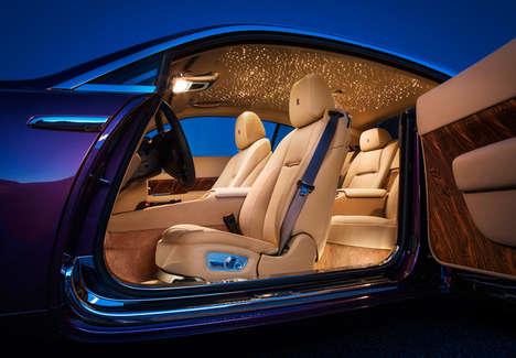 Cosmic Car Interiors - The Fiber Optic Sky Inside the Rolls-Royce Wraith Can be Customized