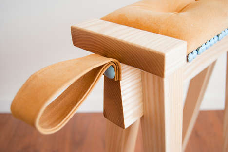 Adorably Awkward Seating - The Eyore Stool Takes a Curious Form, Inspired by the Crafting Process