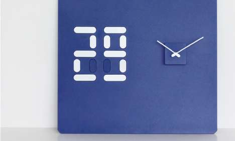 Delightful Dual Chronographs - The Date & Time Clock Combines Digital and Analog in a Playful Design