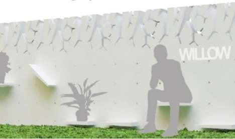 Contemporary Reservoir Fences - The Willow Water Wall Collects and Stores Rain for Eco Applications
