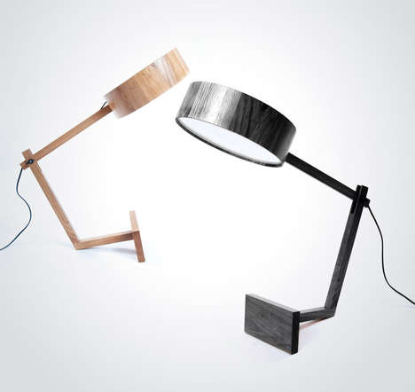 Magnifying Glass-Like Lighting - The Bob Table Lamp by Roman Shpelyk is Simple and Adjustable