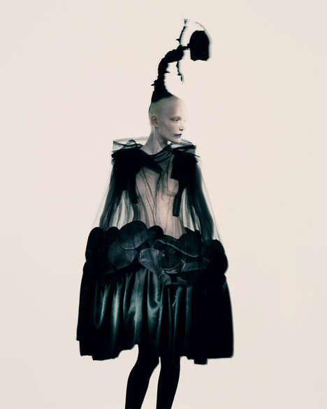 Sculptural Gothic Fashion - The T Magazine December 2013 Editorial Showcases Rei Kawakubo