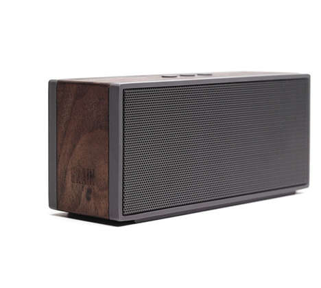 Wooden Wireless Speaker Systems - The Packable Wireless Speaker is Ultra Portable and Made of Wood