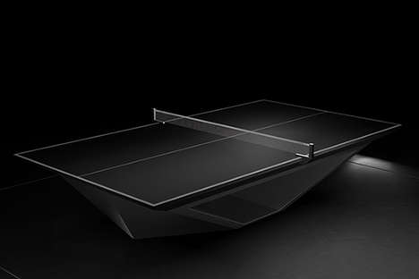 $70,000 Ping Pong Sets - The Eleven Ravens Stealth Table is for Serious Table Tennis Players
