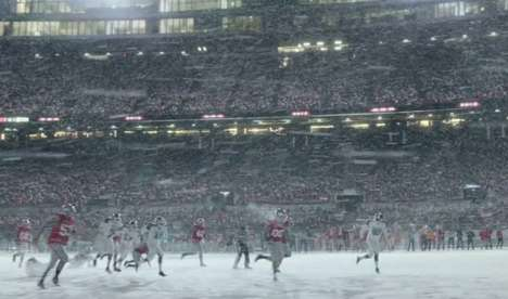 Boundary-Pushing Sports Ads - Nike's Winter Wonderland Boosts Perseverance & Self-Improvement