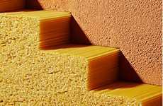 Scrumptious Spaghetti Staircases - 'Tradizione, Costruzione' Explores Edible Design's Potential