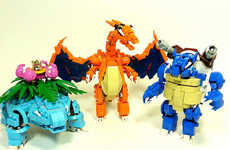 Anime-Inspired Block Strcutures - This Pokemon LEGO Mashup Turns the Famous Animals into Mini Robots