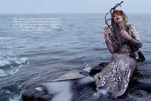 Kristen McMenamy Plays an Edgy Mermaid in This W Magazine Series