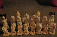 Stuffed Rodent Chess Sets