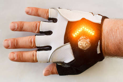 Wearable Blinker Lights - The Zackees Turn Signal Gloves Increases Cyclist Safety When Turning