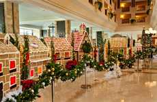 Liveable Gingerbread Communities - The JW Marriott Unveils a Life-Sized Gingerbread Village