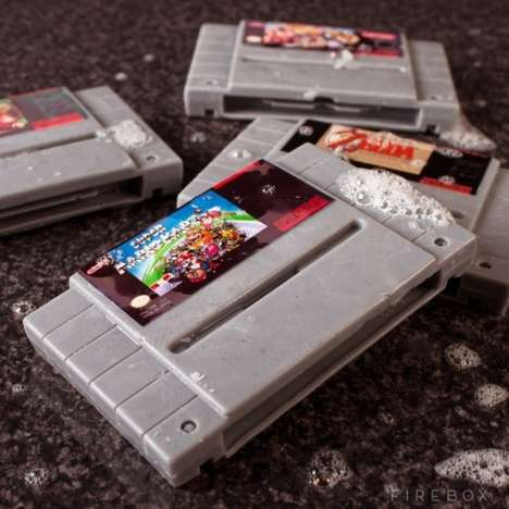 Retro Gamer Cleansers - The Super Nintendo Gamer Soap Cartridges Keep Geeks Clean