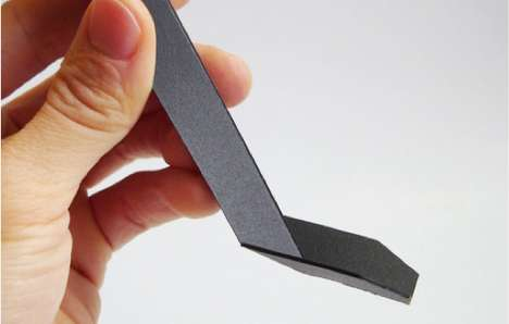 Lovely Origami Cutlery - The Yesign Spoon Unfolds to Flat and Creases Easily for Scooping