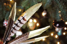 Festive Metallic Feather Decor