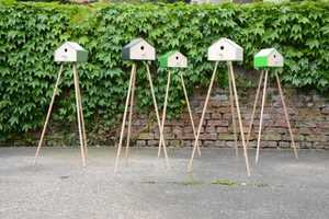 The Surfin Bird House Can Be a Closed Dwelling or an Open Birdfeeder