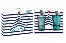 Nautical Fragrance Branding - These Jean Paul Gaultier Holiday Offerings are Fashionably Festive