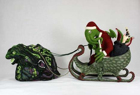 Horrific Santa Claus Depictions - Be Good This Year, or Santa Claus Cthulhu Will Pay You a Visit