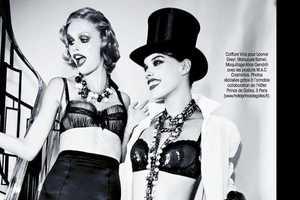 Ellen von Unwerth Shoots a Cabaret Madame Figaro December 2013