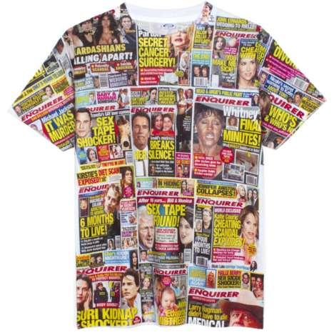 Gossip Rag Garments - This Magazine Shirt From 'Nineteenth Letter Chicago' is Gossip-Ridden