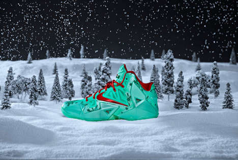 Festive Christmas Kicks - Celebrate Christmas in Style with the Nike Lebron 11 Christmas Shoes