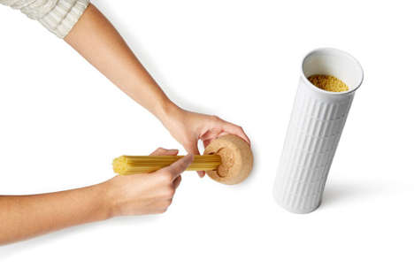 Leaning Tower Pasta Receptacles - This Slanted Container is Not Your Average Pasta Pot