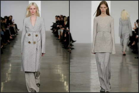 Sleek Pajama-Styled Outerwear - The Calvin Klein Pre FW 2014 Collection Features Nap Time Looks
