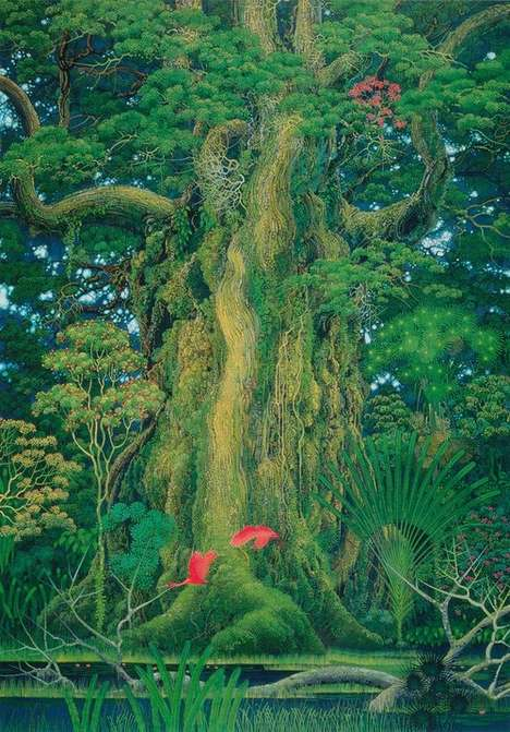 Lush Nature Illustrations - Hiroo Isono Creates Breathtaking Nature-Inspired Drawings