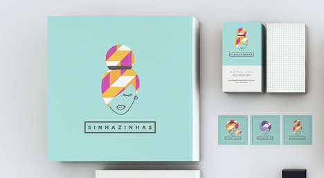Chic Geometric Marketing - Sinhazinhas Branding Has an Edge of Abstraction for Contemporary Appeal