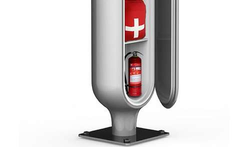 Lamppost-Integrated First Aid - The LifeCross Concept Proposes a Rescue Kit at Major Intersections