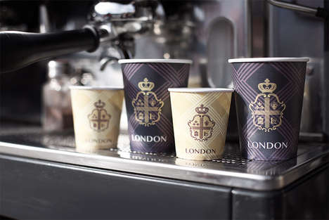 Contemporary Crested Packaging - Coffee House London Branding Seeks New Customers with Old Imagery
