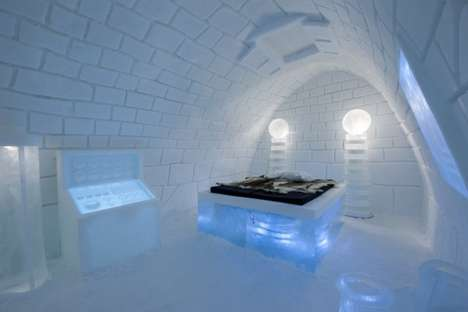 Mad Scientist-Inspired Accommodations - The ICEHOTEL It's Alive Room has a Frankenstein Feeling
