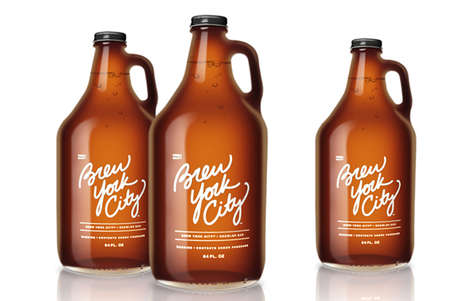 Revived Beverage Vessels - Brew York City Branding Brings Back the Antique Growler