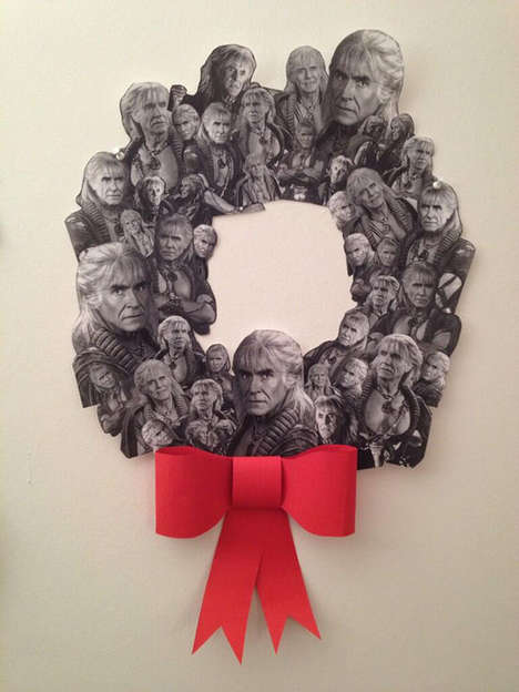 Villainous Christmas Wreaths - This Wrath of Khan Inspired Christmas Wreath is Easy to Make