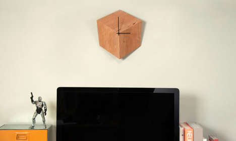 Vanishing Point-Inspired Timepieces - The 3P Clock by robocut Gives Perception of Depth