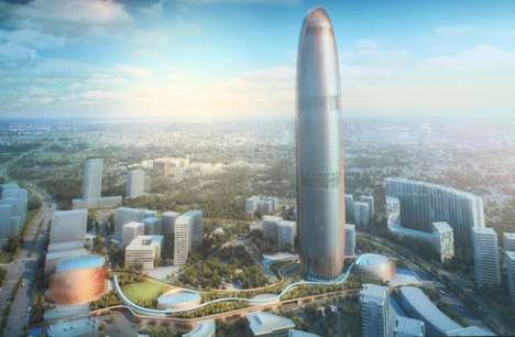 Sleek Sustainable Energy Skyscrapers - SOM Designs Iconic 99 Story Energy Tower in Jakarta