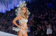 Sculptural 3D Printed Lingerie (UPDATE) - VS Model Stuns the Runway with High-Tech Snowflake Couture