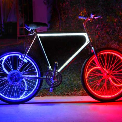 Multi-Colored Bike Lights - These Bike Lights Makes Your Whole Ride Shine