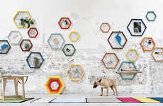 Web-Like Hexagonal Storages