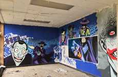 Abandoned Cartoon Graffiti Murals