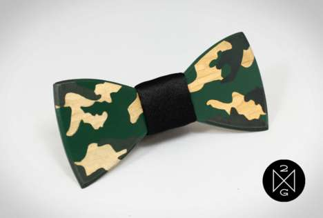 Militant Male Accessories - This Camouflage Bow Tie Will Strengthen Your Style