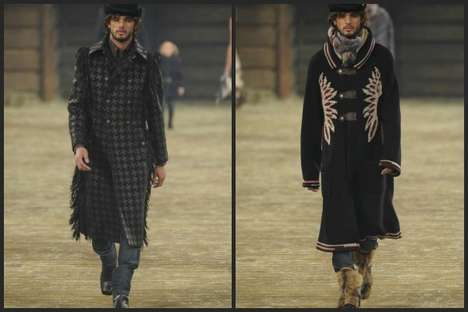Western Wrangler-Inspired Menswear - The Chanel Pre-Fall 2014 Mens Collection is Very Wild Wild West
