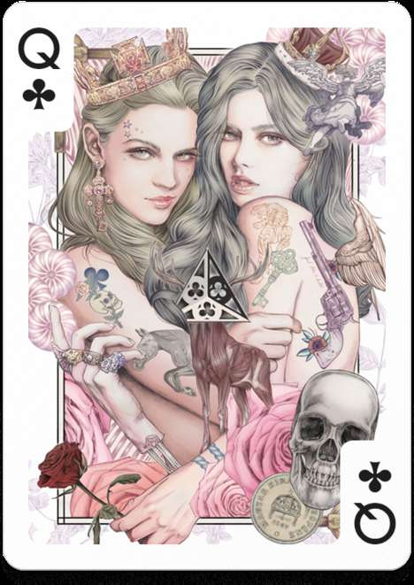 Fantastical Playing Card Collaborations - The Playing Arts Deck of Cards Give Every Card Great Art