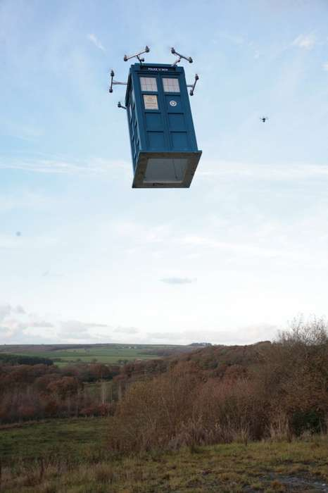 Flying Time Machines - This Prop Team Created a Life-Sized Flying TARDIS