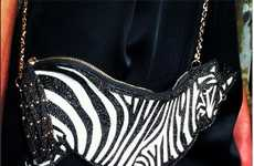 Zebra-Shaped Crossbody Clutches