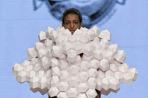 43 Outrageously Radical Fashion Shows - From Shrub-Inspired Headpieces to Faceless Models