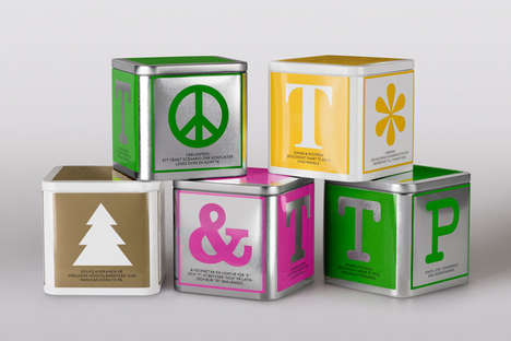 Alphabetic Block Branding - Johan & Nystrom Tea Packaging Embodies the Basics in Form and Principle