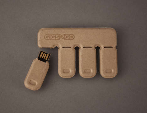 Biodegradable Memory Sticks - Gigs 2 Go is Made from Recycled Paper and Plastic