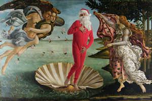 Ed Wheeler Transforms Classic Artworks into Festive Compositions